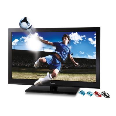 Combi TVs Polaroid ELCD42P3DL10 42ins Full HD LCD Passive 3D TV inc. 4 x 3D Glasses, Black