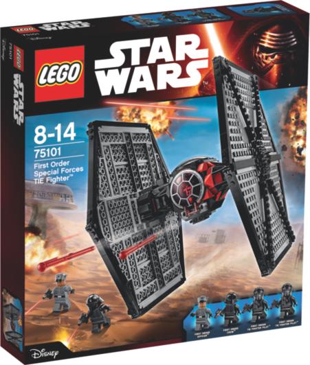 Lego Star Wars Bedroom Furniture 2 LEGO Star Wars - First Order Special Forces TIE fighter - 75101   Kids ...