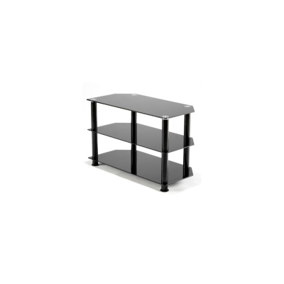 Troy Matrix TV Stand up to 32ins TVs - Black Glass, Black.