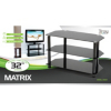 Troy Matrix TV Stand up to 32ins TVs - Black Glass alternative view