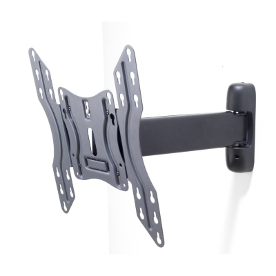 Troy Single Arm Full Motion Bracket up to 55 inch Flat Screens, Dark Graphite.
