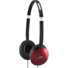 JVC Flats Lightweight Headphones - Red