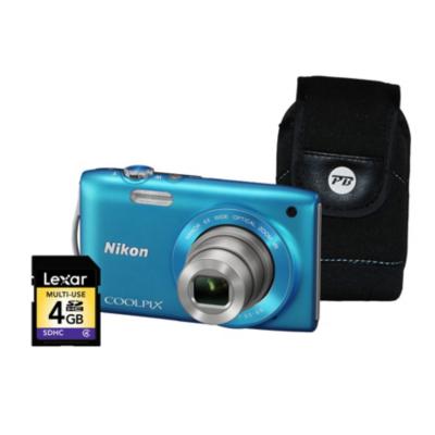 Coolpix S3300 Blue Camera Kit inc 4Gb SD