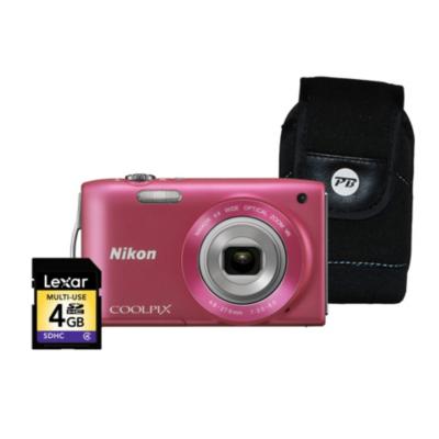 Coolpix S3300 Pink Camera Kit inc 4Gb SD