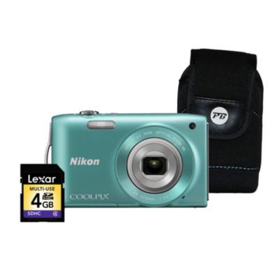 Coolpix S3300 Green Camera Kit inc 4Gb SD
