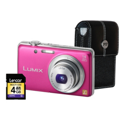 DMC-FS40 Pink Camera Kit inc 4GB SD