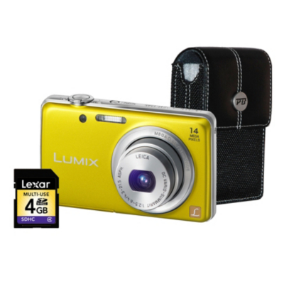 DMC-FS40 Yellow Camera Kit inc 4GB SD