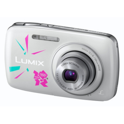 DMC-S3 Camera White with Olympic Case,