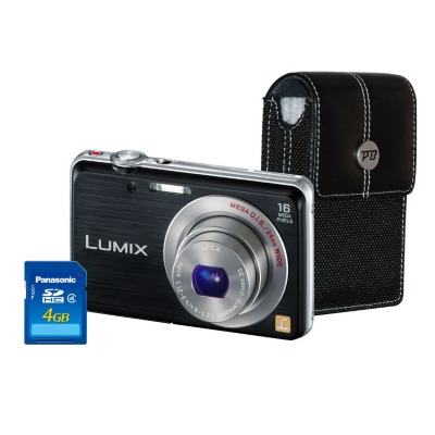 DMC-FS45 Black Camera Kit inc 4GB SD