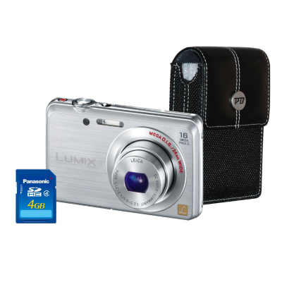 DMC-FS45 Silver Camera Kit inc 4GB SD