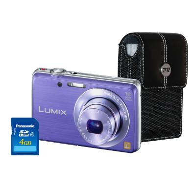 DMC-FS45 Violet Camera Kit inc 4GB SD