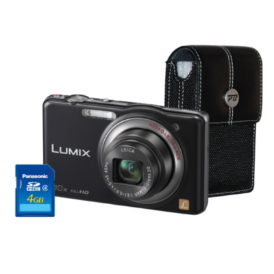 DMC-SZ7 Black Camera Kit inc 4GB SD