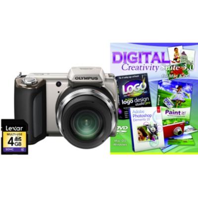 SP-620UZ Silver Camera Kit inc