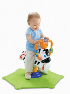 Fisher Price Bounce and Spin Zebra - Black and White