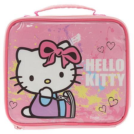 hello kitty paint splat lunch bag dining asda direct. Black Bedroom Furniture Sets. Home Design Ideas