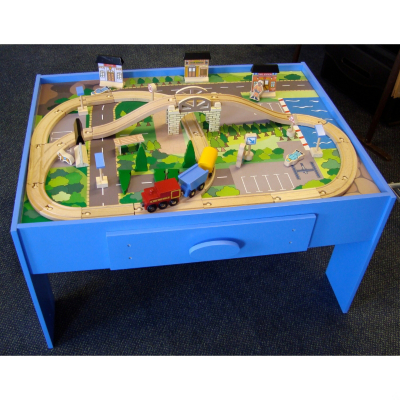 Play Tables On At Asda Direct Activity Table With Train Set Play Table With Train Sc 1 St OVAL DINING TABLE - Blogger  sc 1 st  pezcame.com & Activity Table Train Set u0026 Wooden Toy Train / Car Activity Table ...