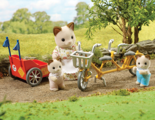Sylvanian Families Tandem Bike and Baby Trailer