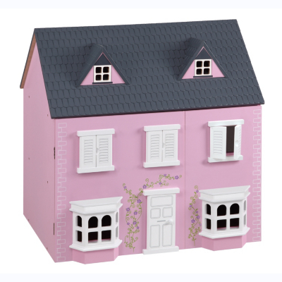 Traditional Pink Wooden Dolls House