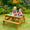 Plum Surfside Wooden Sand Pit and Water Picnic Table main view