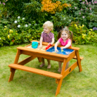 Plum Surfside Wooden Sand Pit and Water Picnic Table