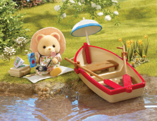 Sylvanian Families Canal Rowing Boat and Figure