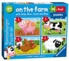 On the Farm - 4 x Jigsaw Puzzles