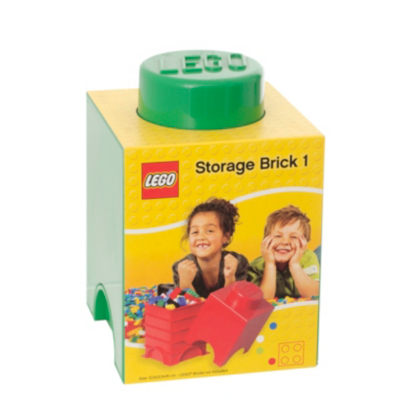 1.2 Litre Small Storage Brick - Green - CLICK FOR MORE INFORMATION