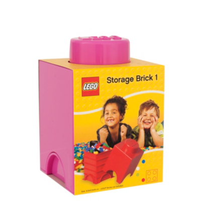 LEGO 1.2 Litre Small Storage Brick - Pink