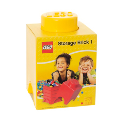 1.2 Litre Small Storage Brick - Yellow - CLICK FOR MORE INFORMATION