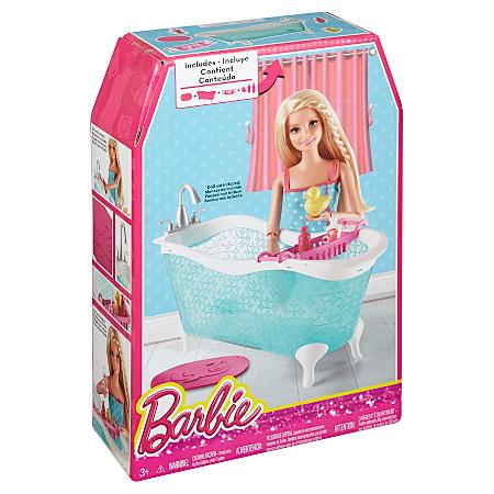 barbie large story starter accessory bath tub dolls asda direct. Black Bedroom Furniture Sets. Home Design Ideas