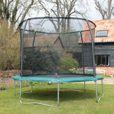 JumpKing Arrow 10ft Trampoline Combo, Black and
