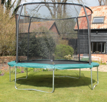 JumpKing Arrow 12ft Trampoline Combo, Black and