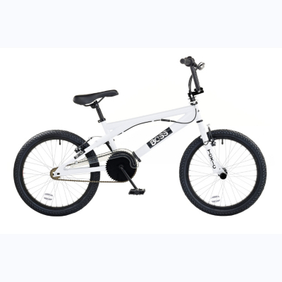Boys 20ins Wheel Toxic BMX Bike, White