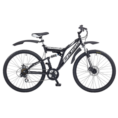 Stealth Mens Bike - 26 inch Wheels, Black