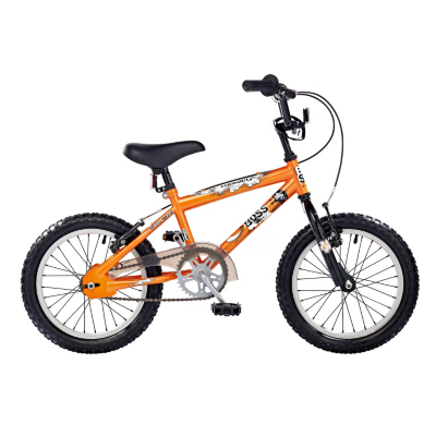 Boys BOSS 16in Wheel Missile BMX Bike, Orange