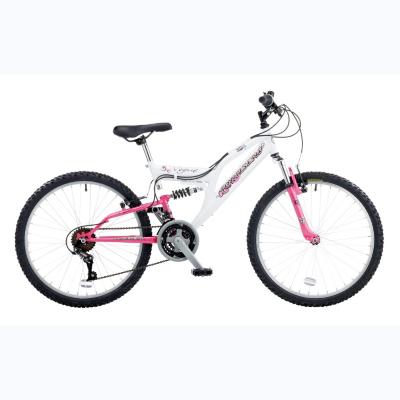 Vogue 24in Wheel Dual Suspension Bike,