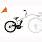 WeeRide Steel Tag along Trailer Bike - White