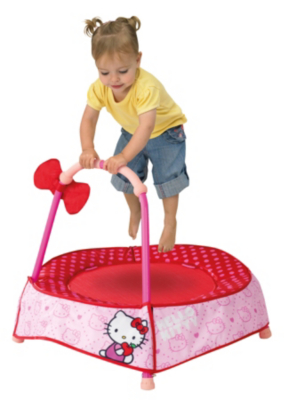 Hello Kitty Trampoline, Pink, Red and White