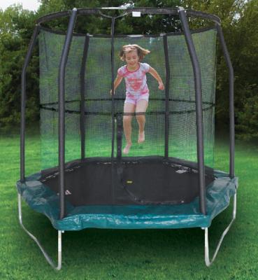 JumpKing Hexagonal Trampoline, Green YJ8813