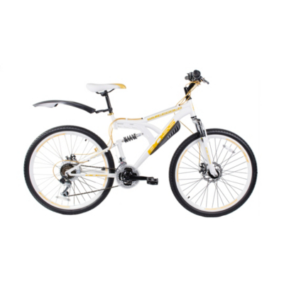 Whitegold Bike - 26 inch Wheels, White/Gold