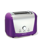Morphy Richards 44387 Accents 2 Slice Purple Polished Stainless Steel Toaster