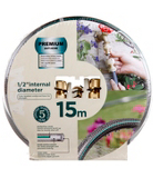 ASDA Anti-Kink 15m Garden Hose and 3 Piece Brass Accessory Set