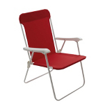 ASDA Folding Picnic Chair Red