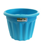 Round Plastic Planter - Blueberry - 40 cm