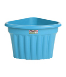 Corner Plastic Planter - Blueberry - 49 cm