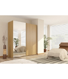 Bonn Wardrobe with 1 Mirror 1 Plain Door - 1.8m