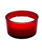 ASDA Large Red Glass Decal Candle