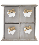 George Home  White Butterfly Drawers