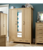 Montreaux Wardrobe - 3 Door - 2 Drawer - Oak Veneer