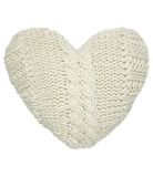 George Home Knitted Heart Cushion